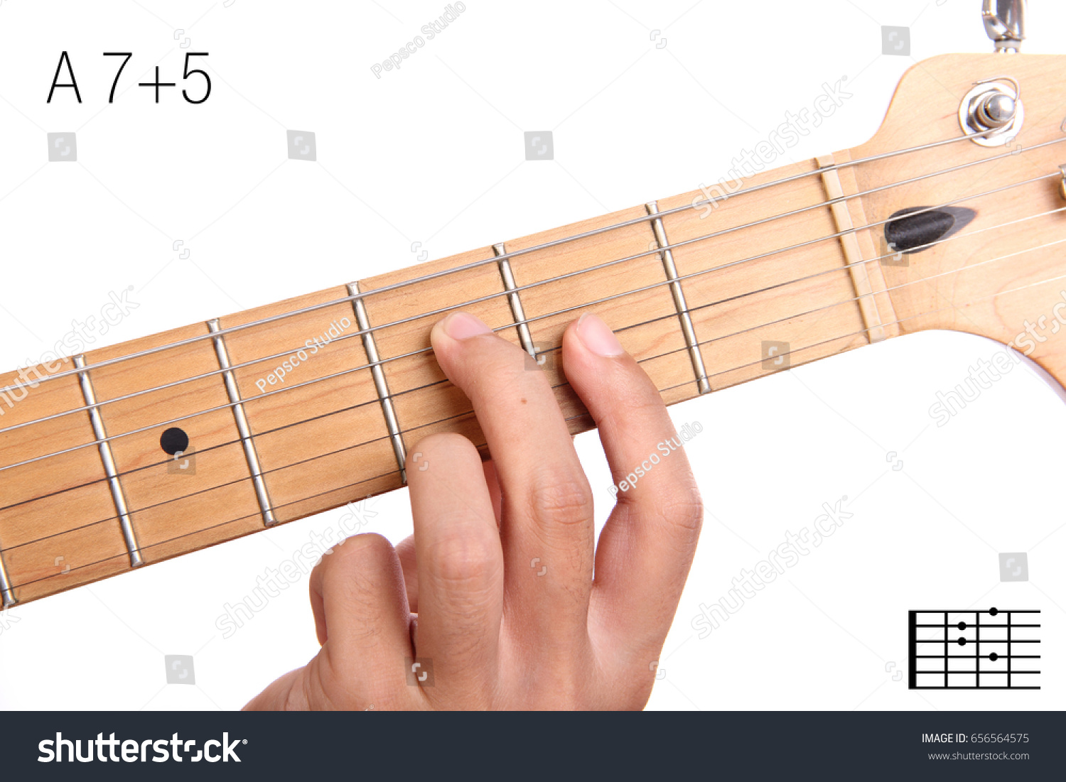 A 75 Advanced Guitar Keys Series Closeup Stock Photo Edit Now
