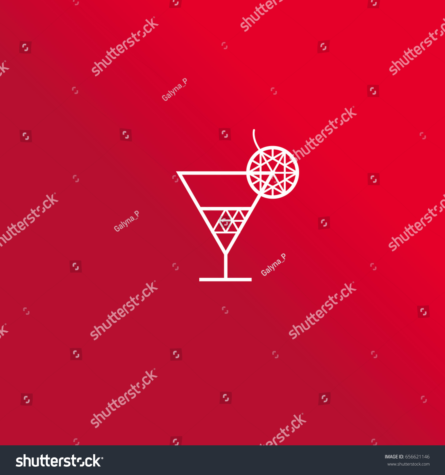 Geometry diamond design element cocktail shape stock vector geometry diamond design element in cocktail shape for concept bar logo icon symbol biocorpaavc