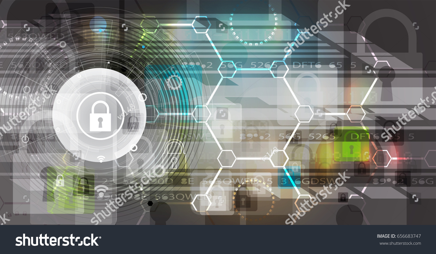 Cyber Security Information Network Protection Future Stock Vector