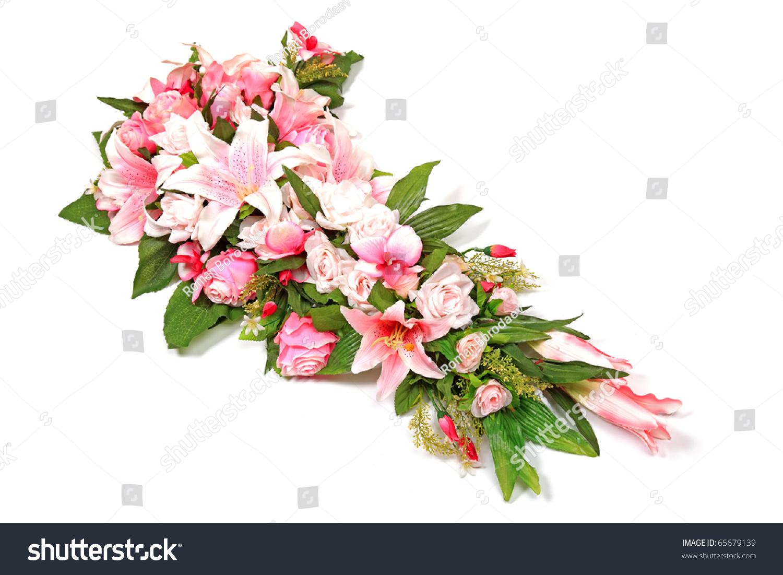 Composition Lilies Roses Wedding Flower Bouquet Stock Photo Edit