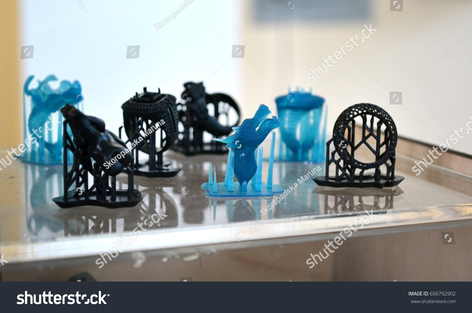 Objects Photopolymer Printed On 3d Printer Stock Photo (Edit
