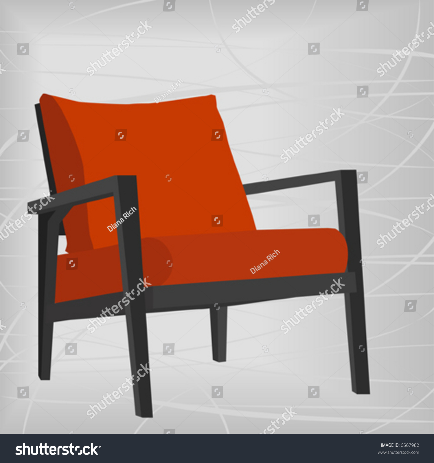 Stylish vintageretro chair design element easyedit stock for Chair design elements