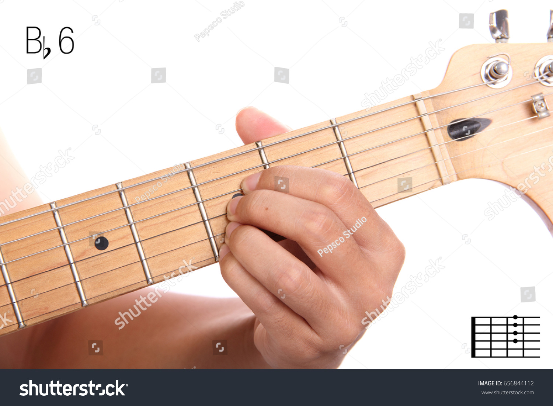Bb 6 Advanced Guitar Keys Series Closeup Stock Photo Edit Now