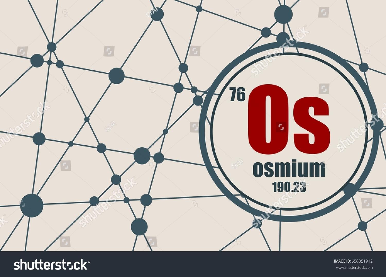 Osmium chemical element sign atomic number stock vector 656851912 osmium chemical element sign with atomic number and atomic weight chemical element of periodic urtaz Images