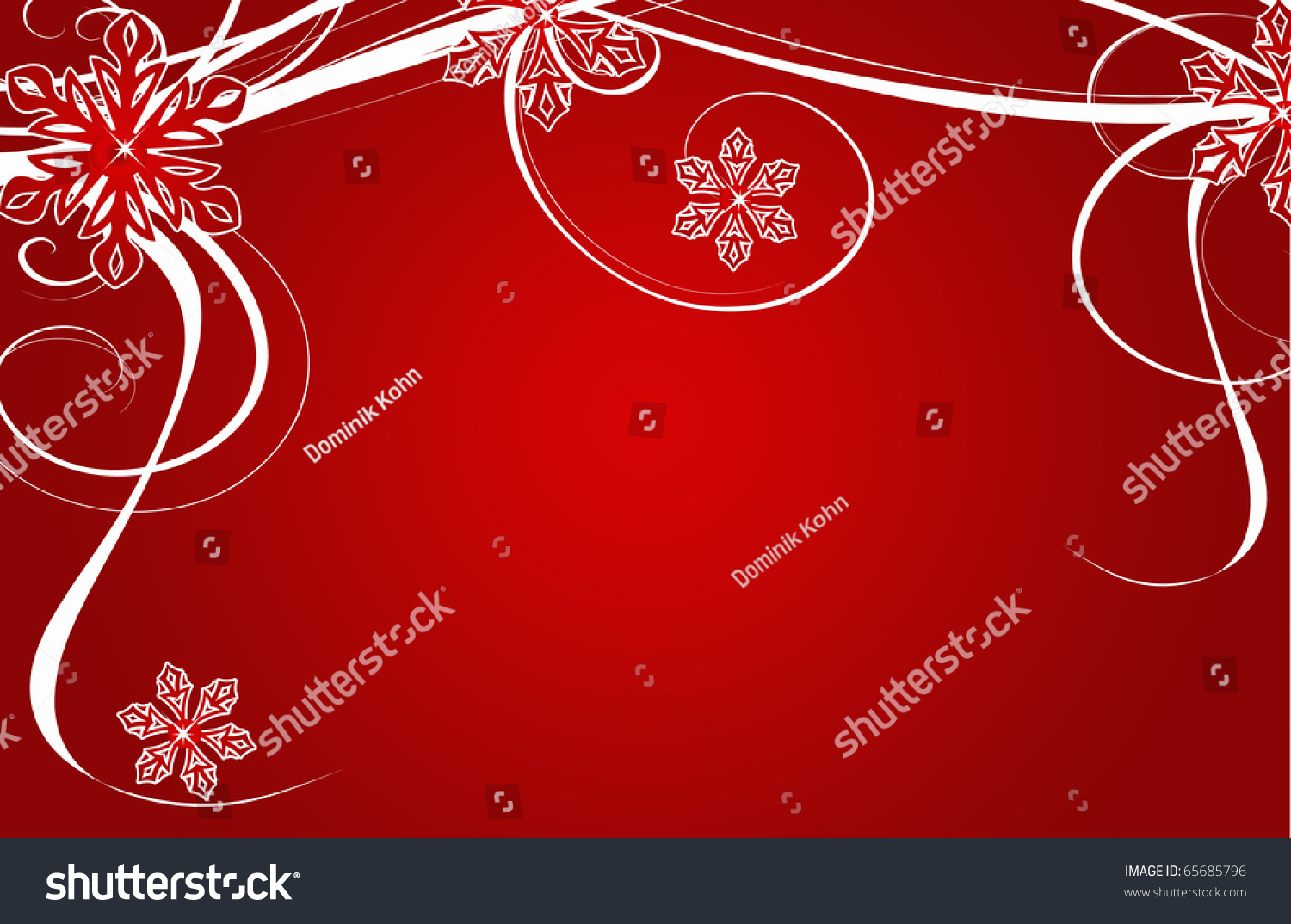 Abstract Creative Romantic Ice Flower Christmas Stock Illustration