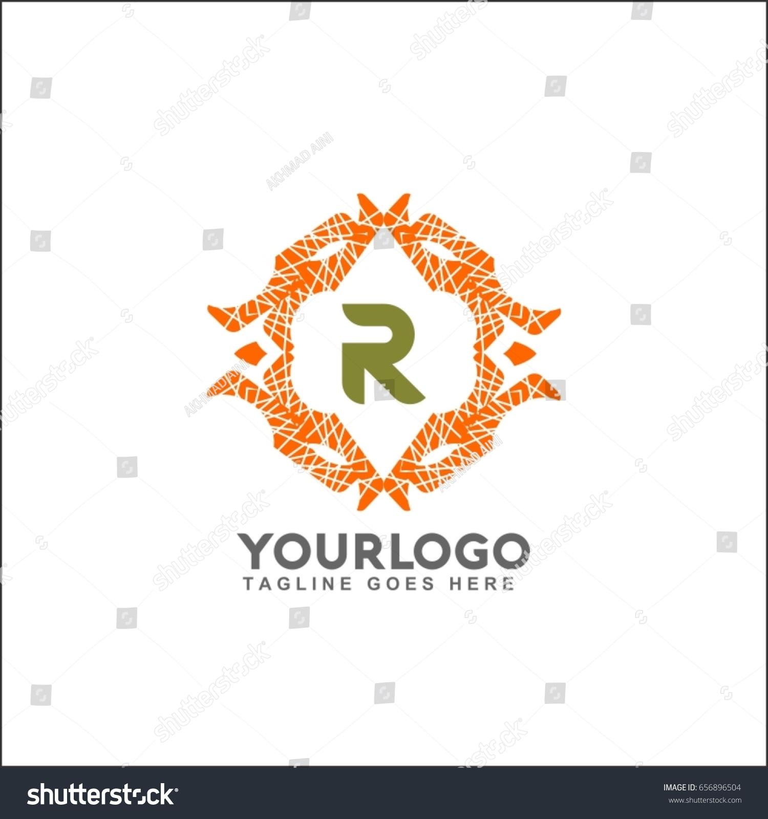 R letter emblem weaving circle monogram stock vector 656896504 r letter emblem of the weaving circle monogram design for royalty business card magicingreecefo Images