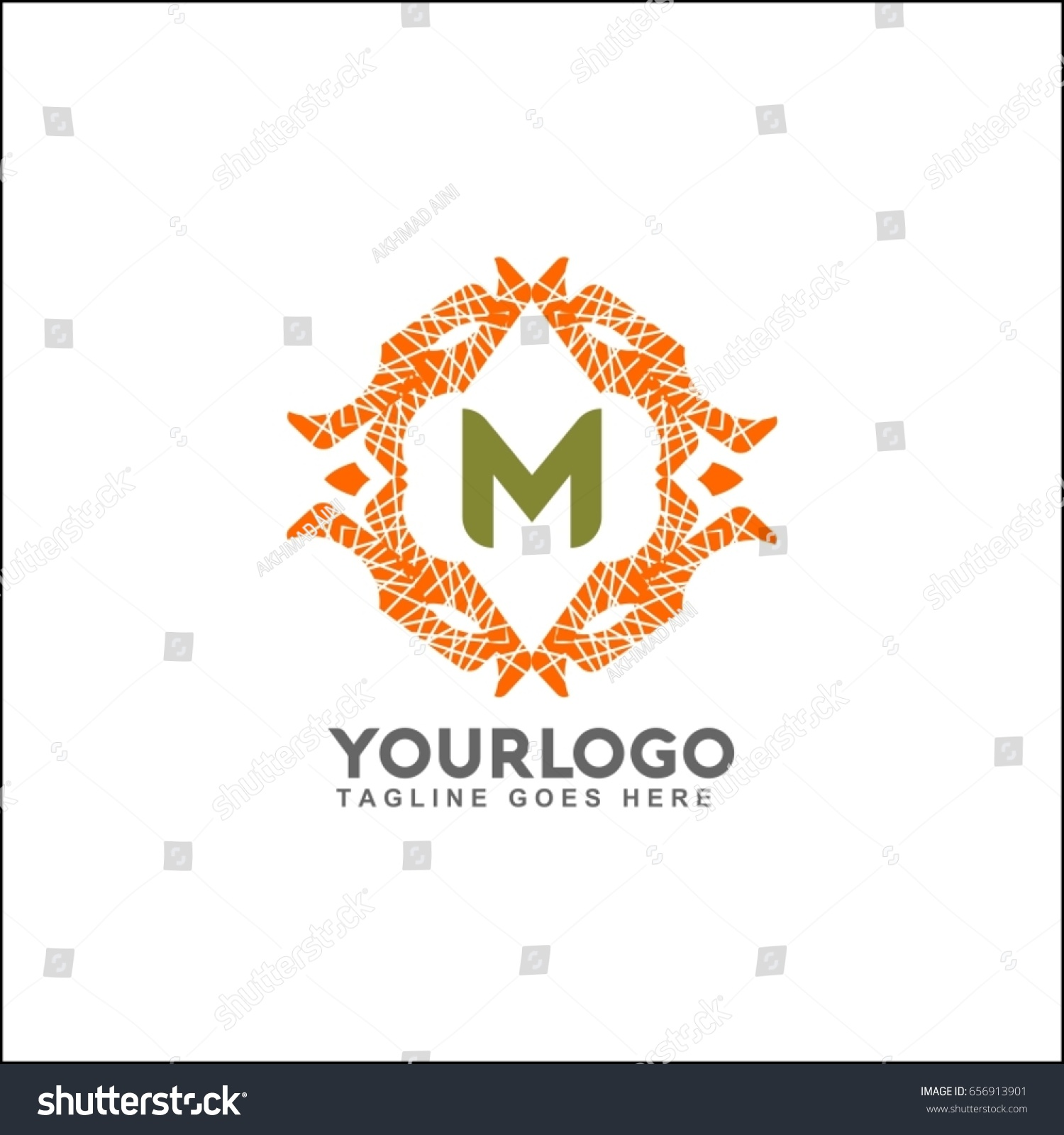 M letter emblem weaving circle monogram stock vector hd royalty m letter emblem of the weaving circle monogram design for royalty business card thecheapjerseys Image collections