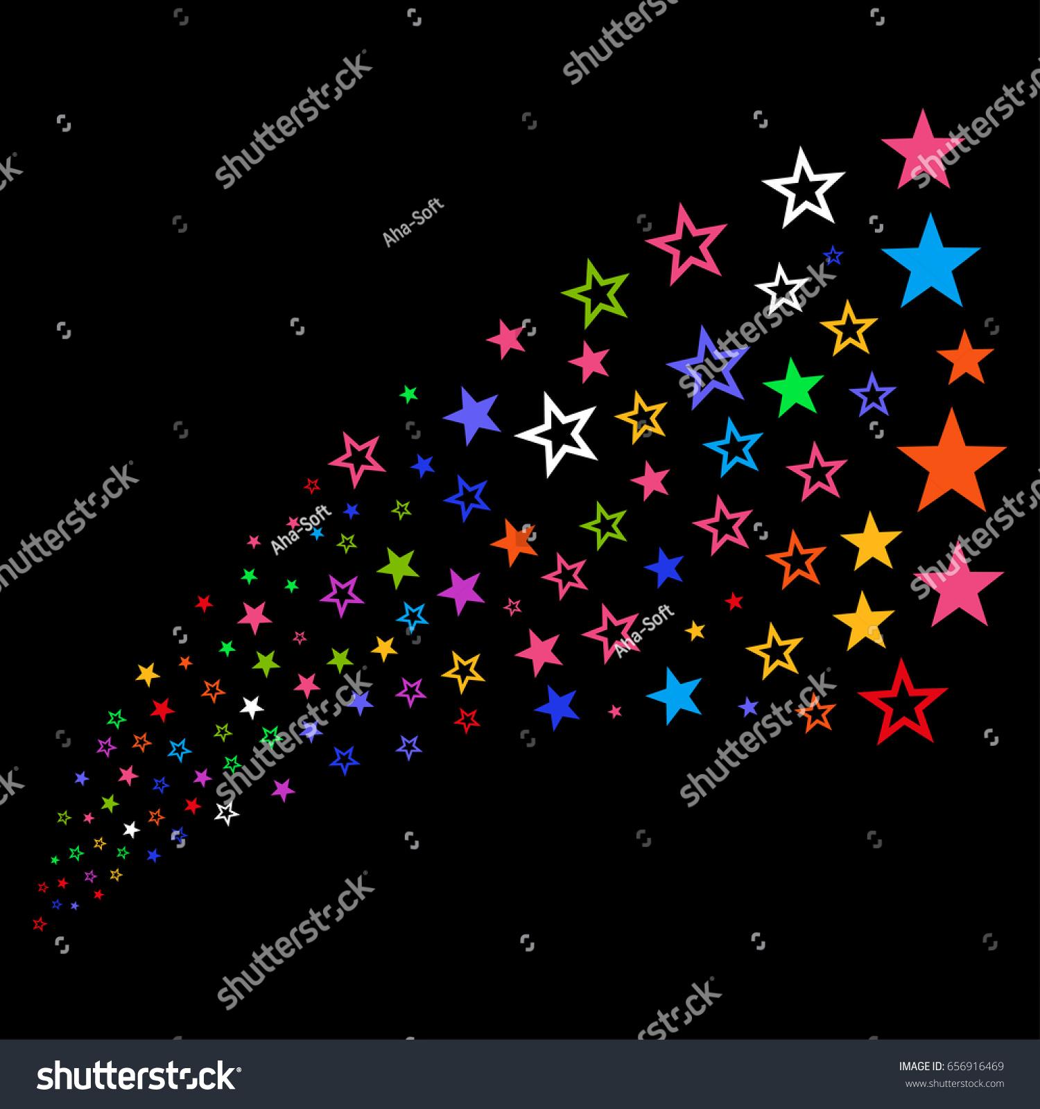 Fountain Decoration Stars Symbols Raster Illustration Stock