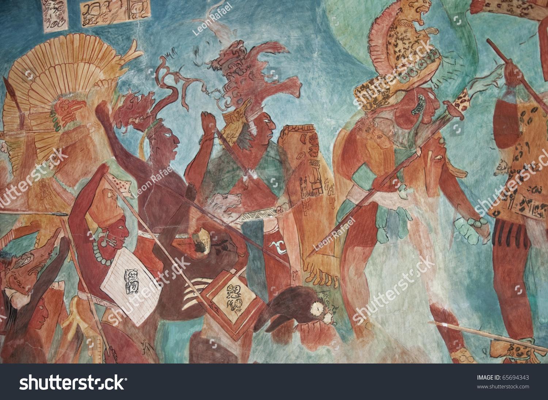 Image gallery mayan murals for Bonampak mural painting