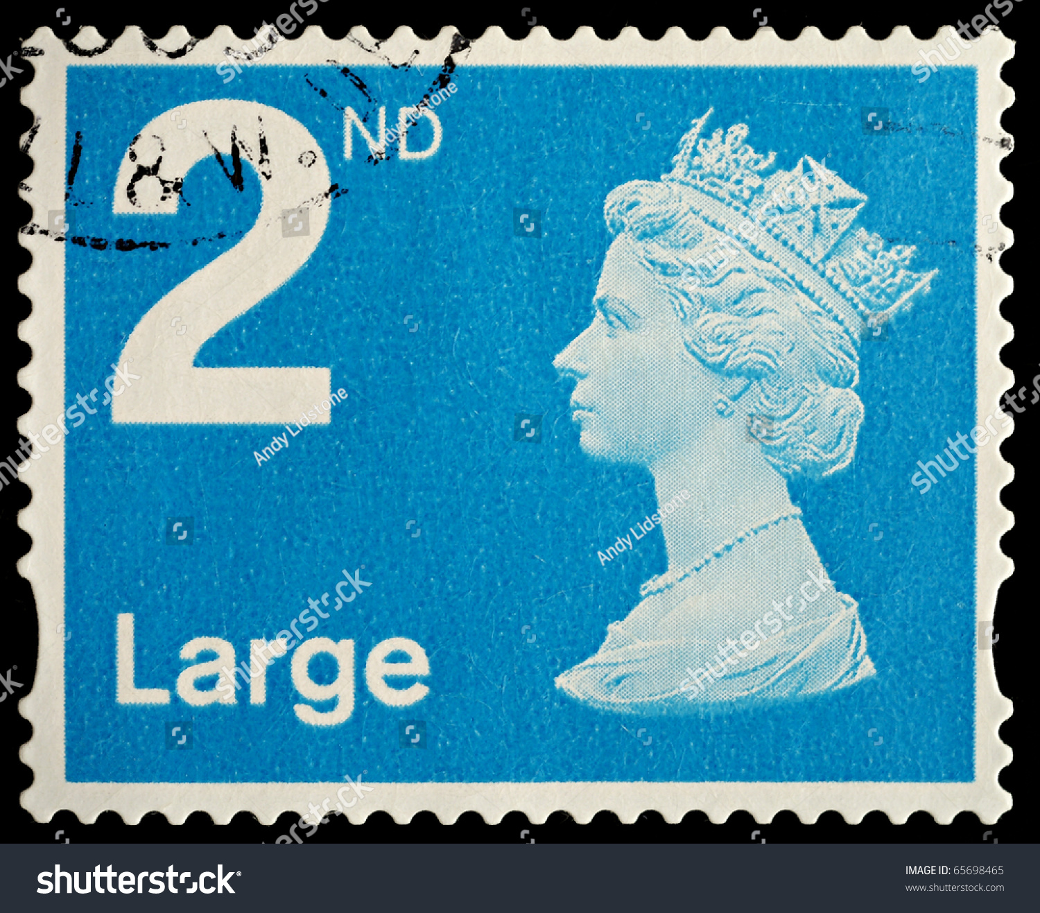 united kingdom circa 2006 an english used second class large letter postage stamp showing