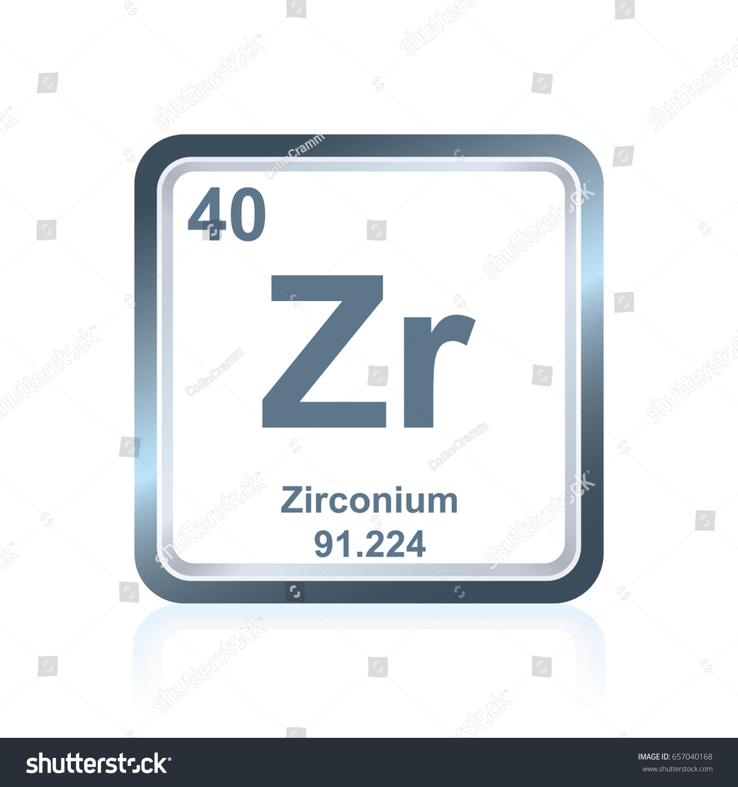 Symbol chemical element zirconium seen on stock vector 657040168 symbol of chemical element zirconium as seen on the periodic table of the elements including gamestrikefo Images