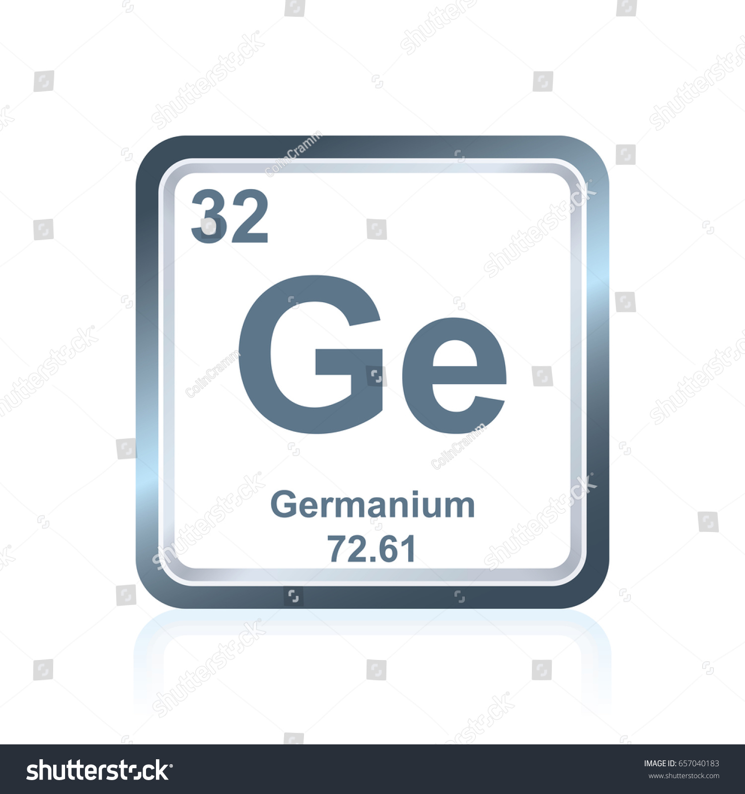 Symbol chemical element germanium seen on stock vector 657040183 symbol of chemical element germanium as seen on the periodic table of the elements including gamestrikefo Image collections