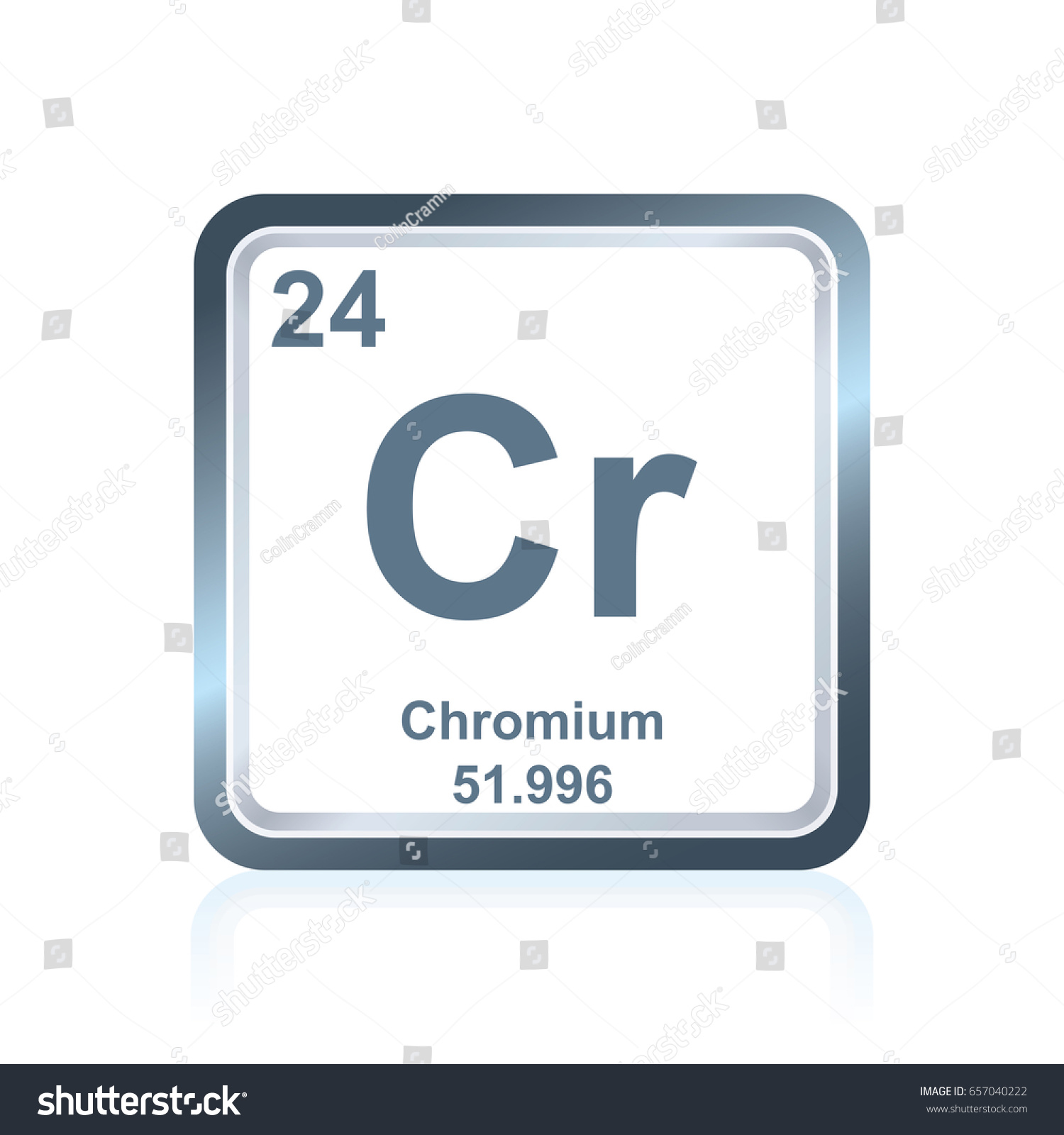 Symbol Chemical Element Chromium Seen On Stock Vector Royalty Free