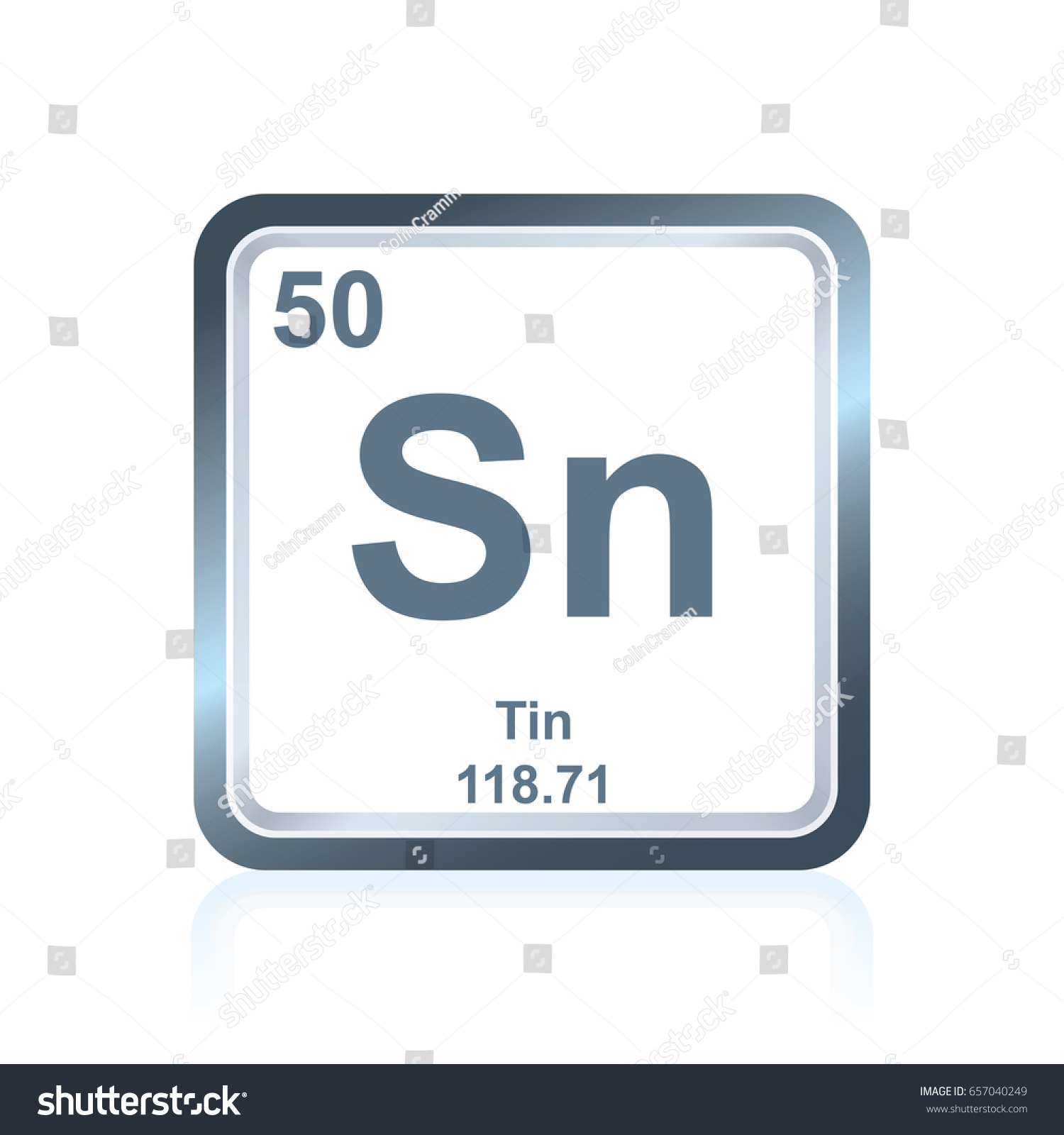 Symbol chemical element tin seen on stock vector 657040249 symbol of chemical element tin as seen on the periodic table of the elements including gamestrikefo Gallery