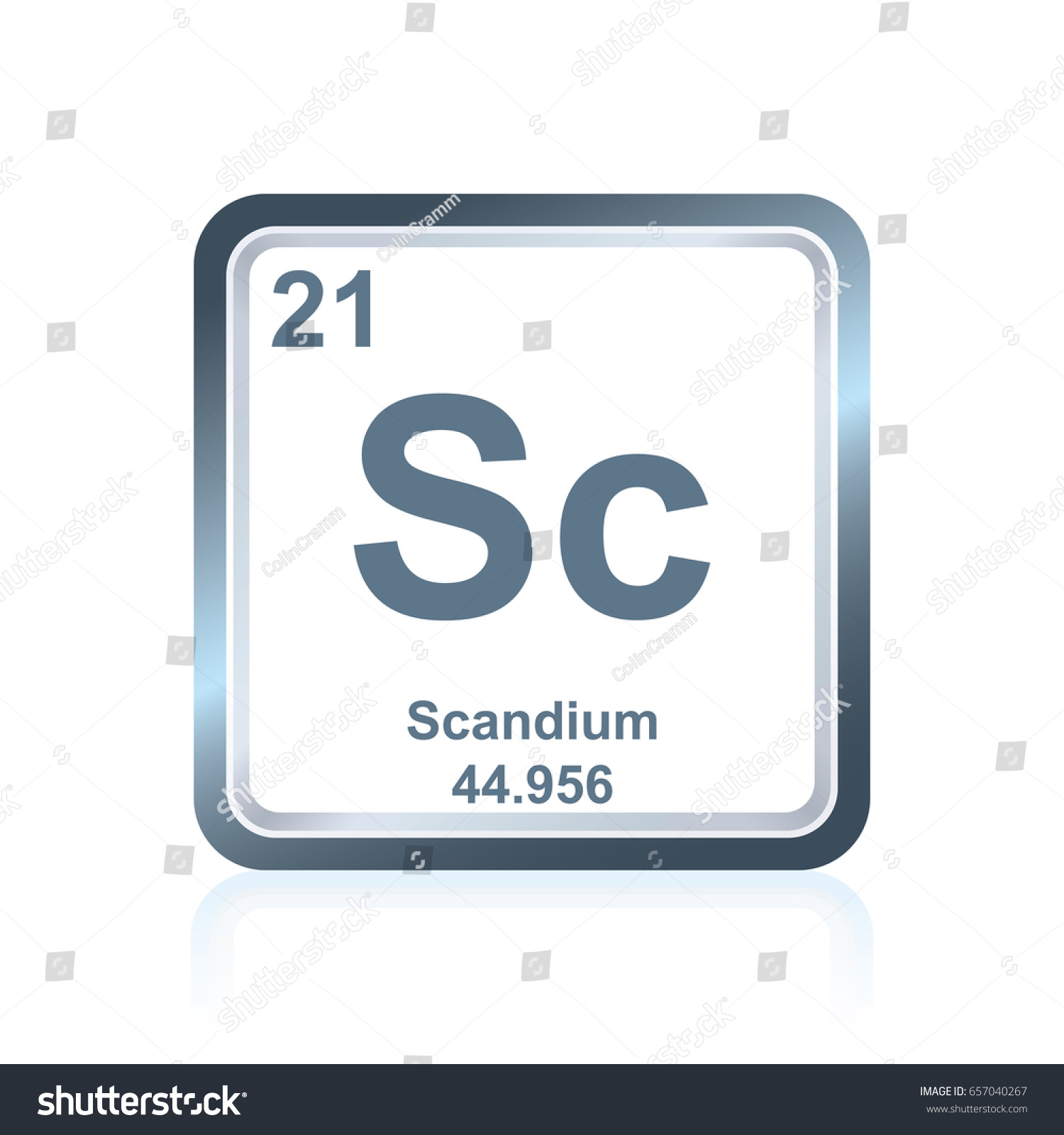 Symbol chemical element scandium seen on stock vector 657040267 symbol of chemical element scandium as seen on the periodic table of the elements including gamestrikefo Images