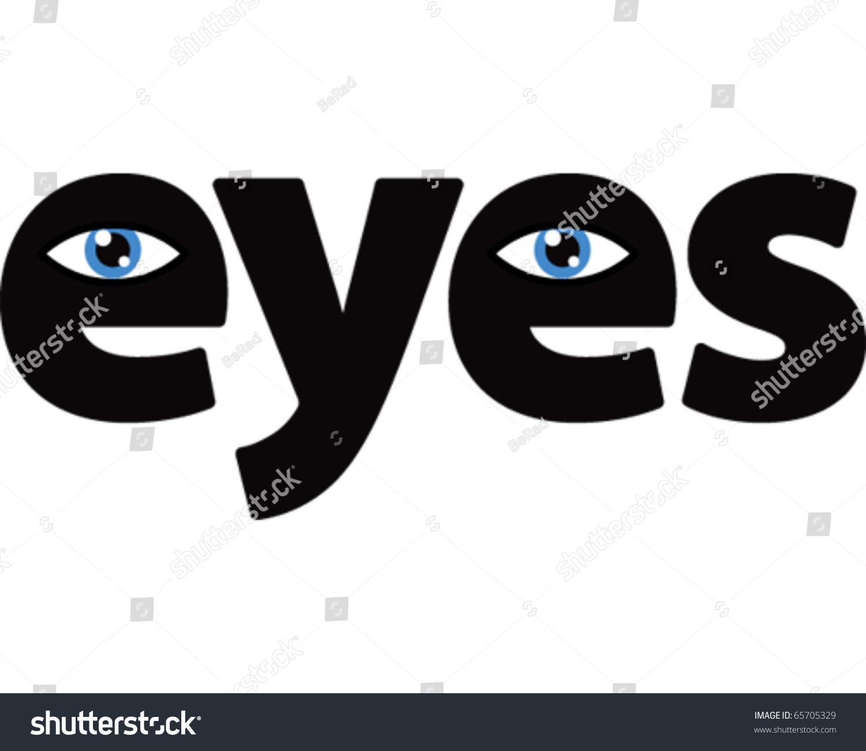 eye word stock vector 65705329