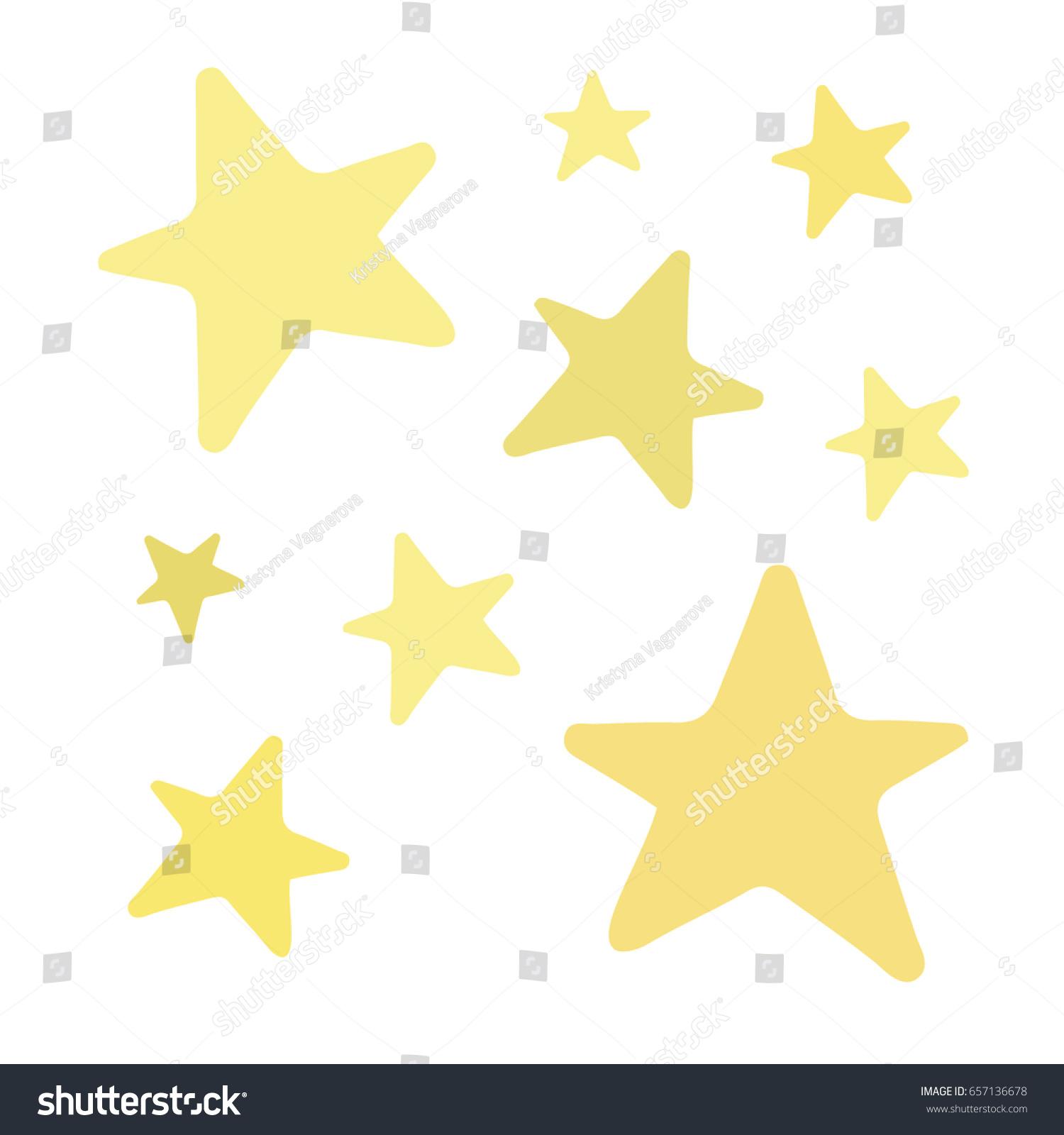 Set golden yellow shiny stars vector stock vector - Sparkle and shine cartoon ...
