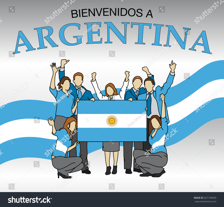 bienvenidos argentina welcome argentina spanish language stock