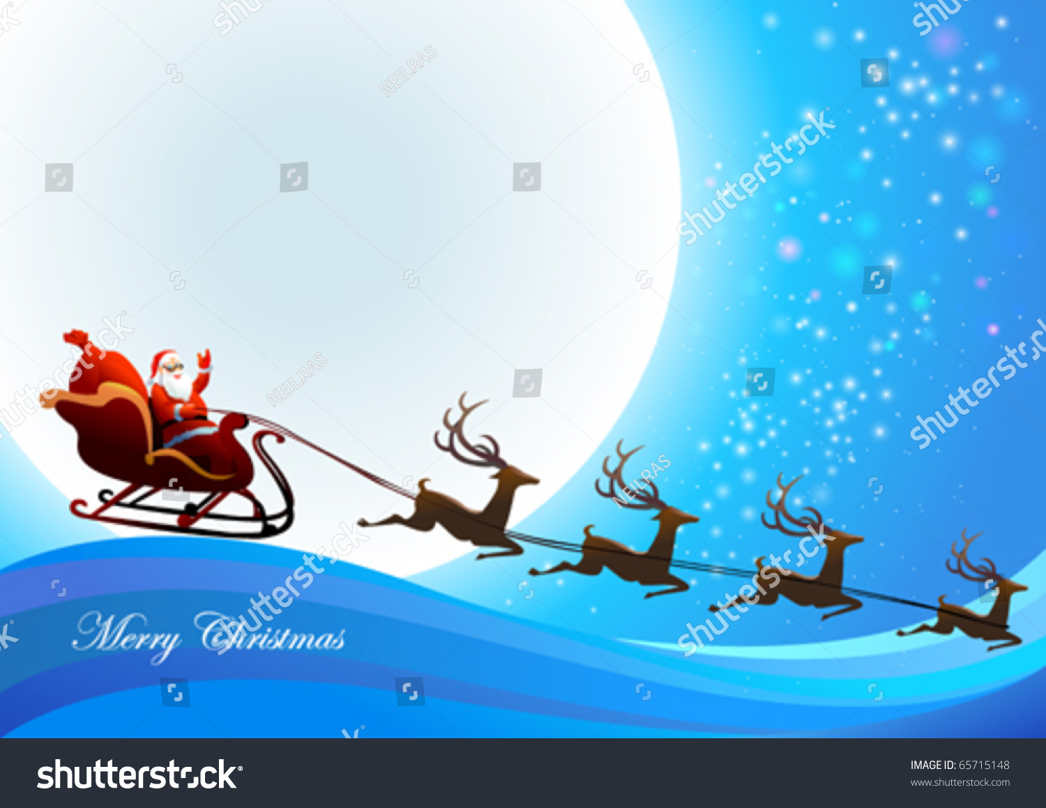 Santa claus coming town stock vector royalty free 65715148