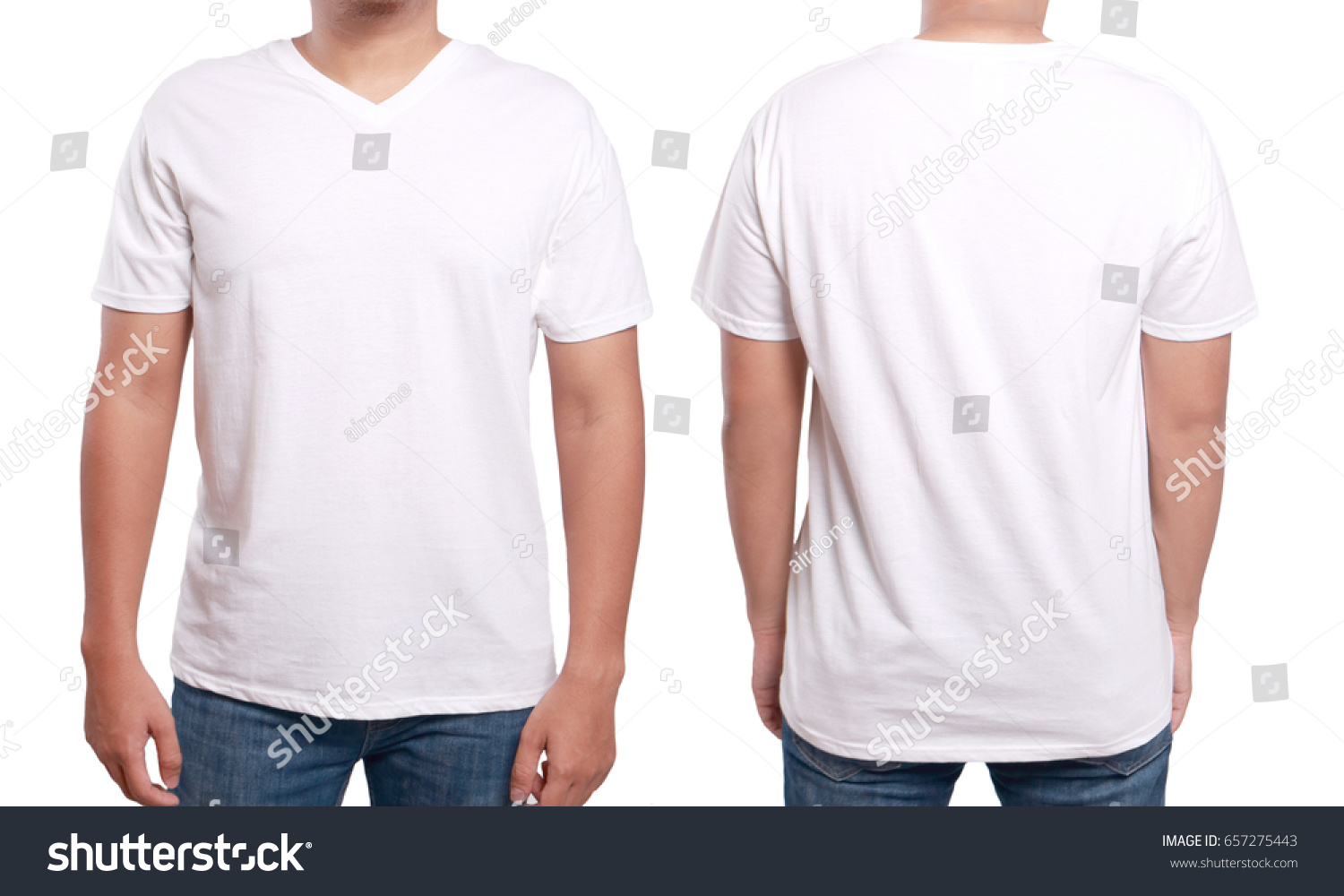 White Tshirt Mock Up Front Back Stockfoto (Lizenzfrei) 657275443 ...