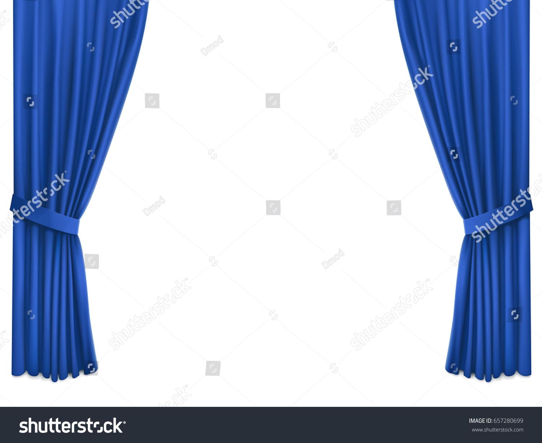 Tende In Velluto Di Seta immagine vettoriale stock 657280699 a tema sfondo con tende