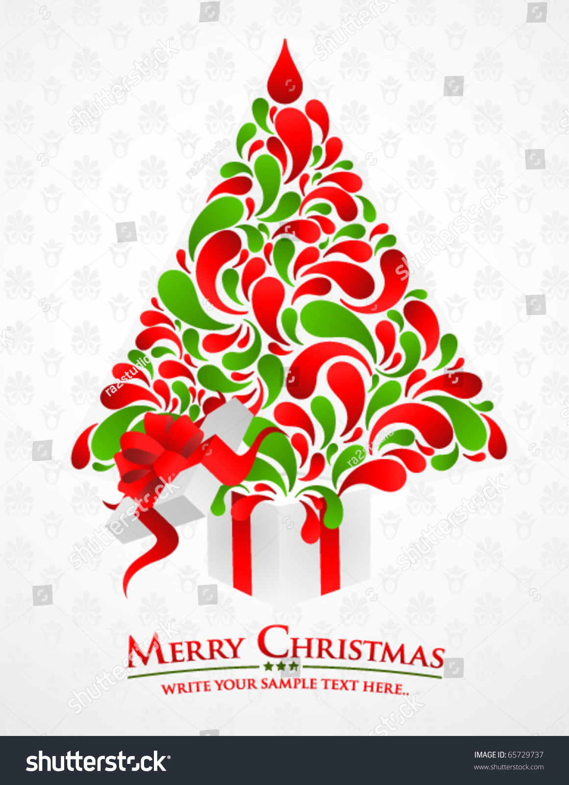 Merry Christmas Sample Text With Colorful Abstract ...