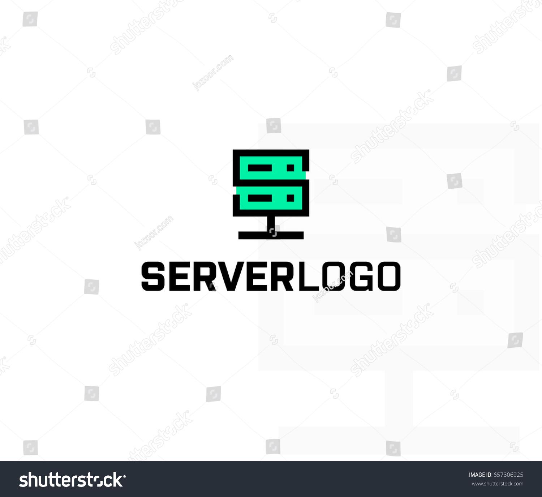 server logo design server host data のベクター画像素材
