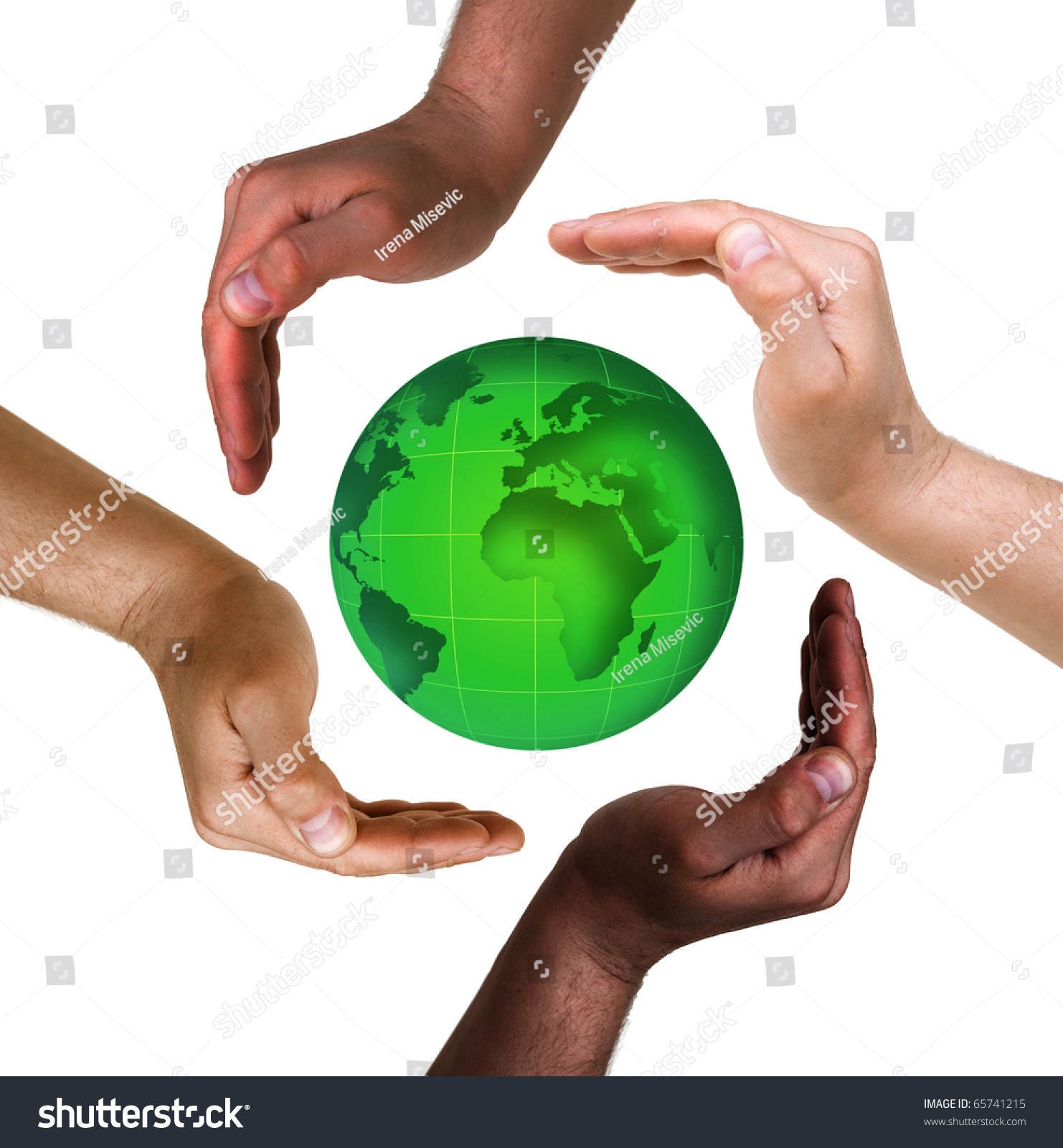 Conceptual Safety Symbol Made Hands Over Stock Photo Edit Now