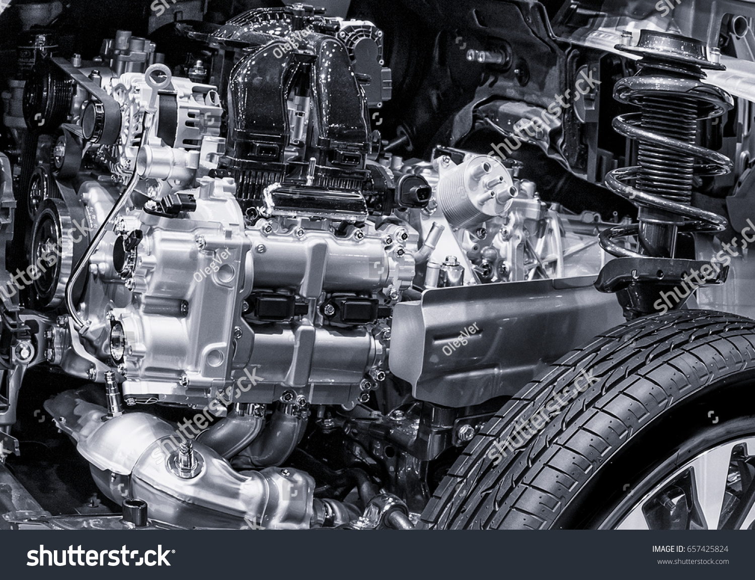 Inside Motor Part Car Front Service Stock Photo (Royalty Free ...