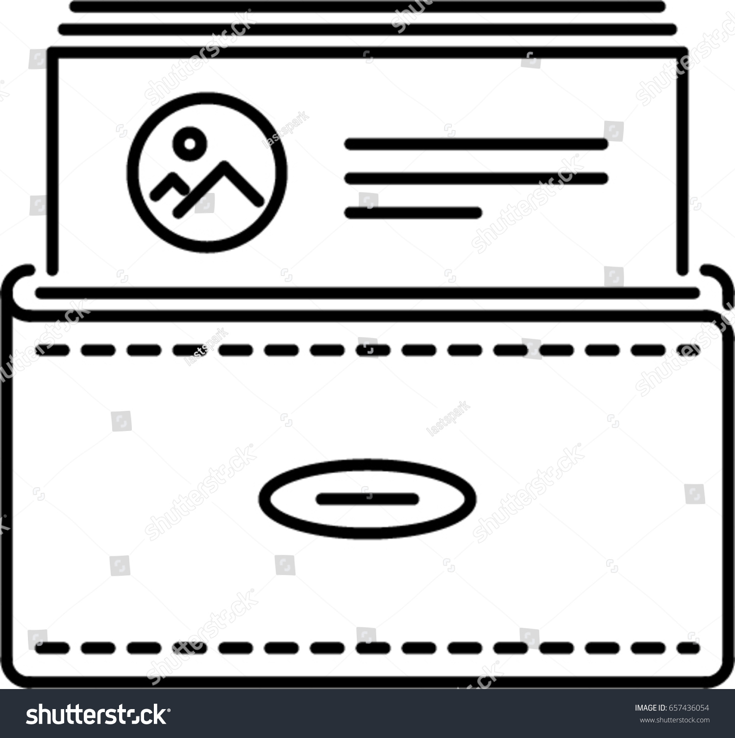 Business card outline icon stock vector 657436054 shutterstock business card outline icon colourmoves