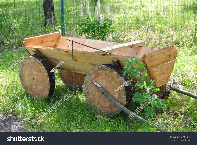 Decorative Cart Garden Grass Stock Photo 657461041 - Shutterstock