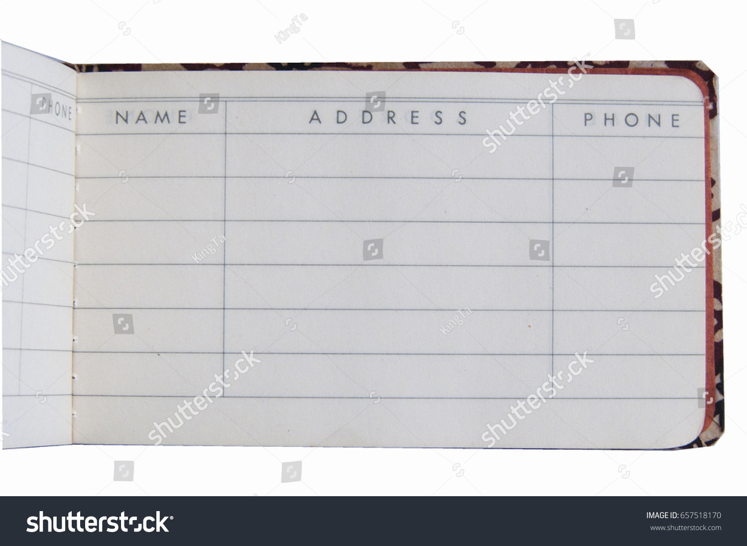 small open blank address book page stock photo edit now 657518170