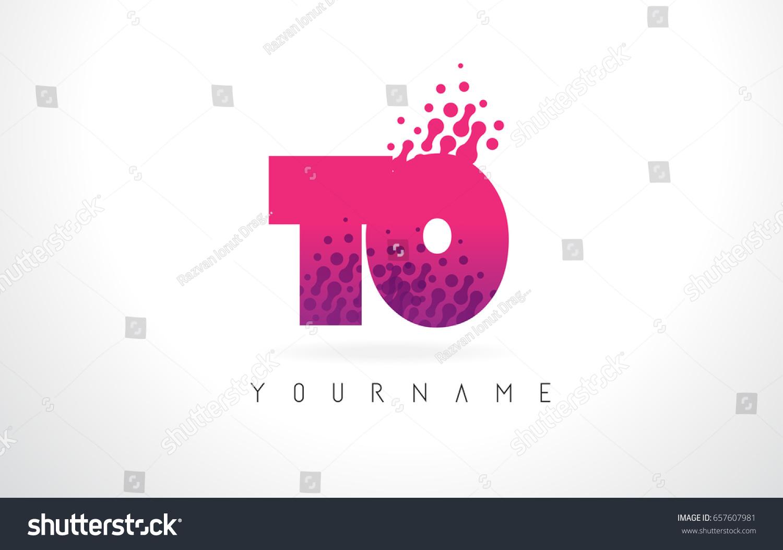 T O Letter Logo Pink Letters Stock Vector 657607981 - Shutterstock