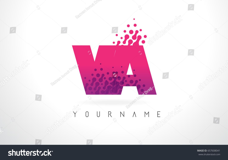 VA V Letter Logo Pink Letters Stock Vector (Royalty Free) 657608041 ...