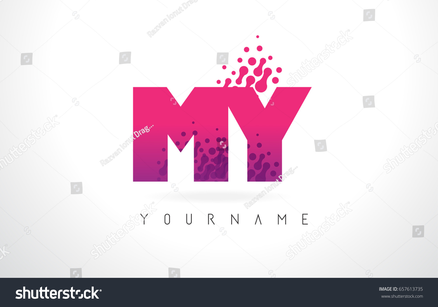 MY M Y Letter Logo Pink Stock Vector (Royalty Free) 657613735 ...