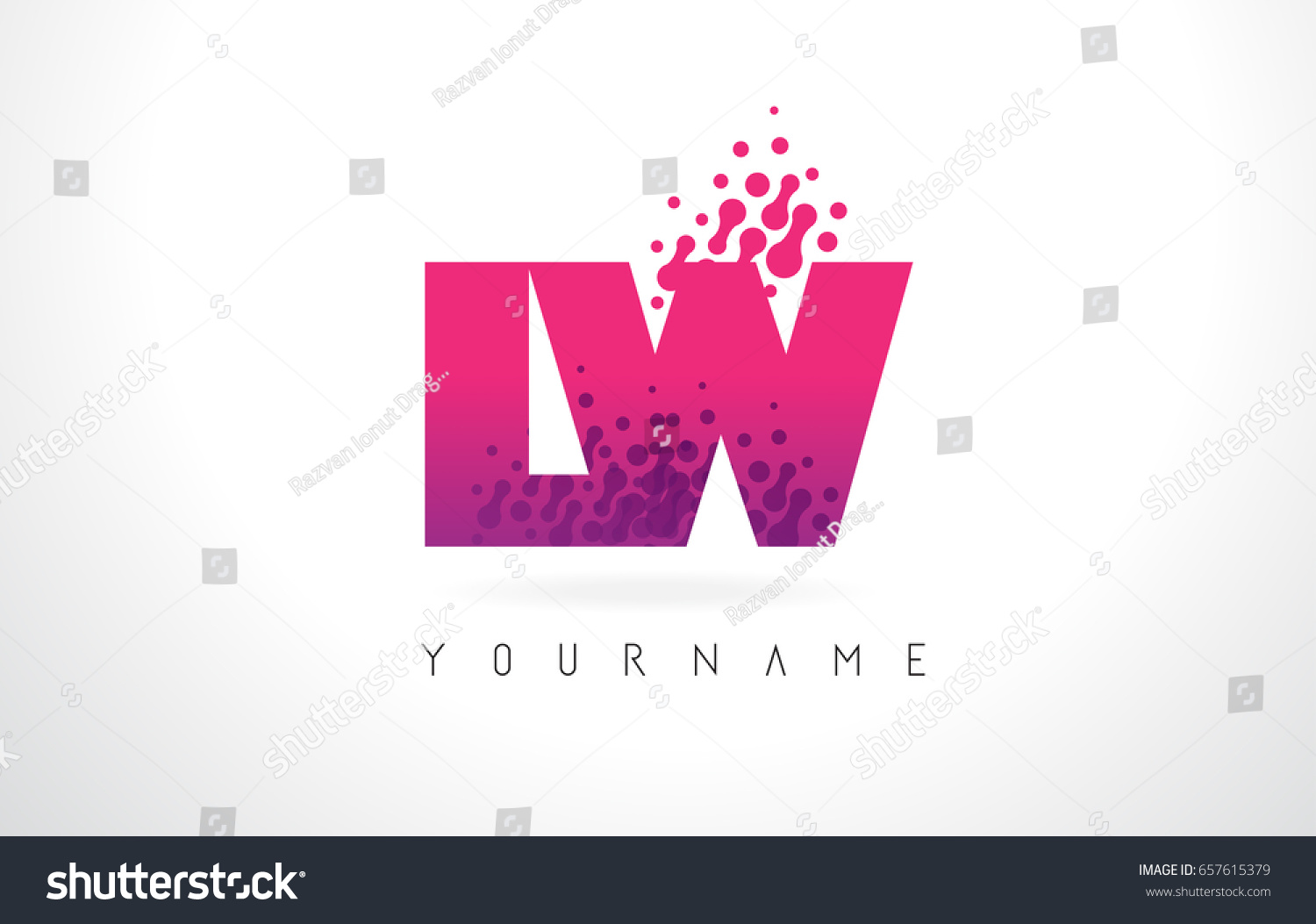 LW L W Letter Logo Pink Stock Vector (Royalty Free) 657615379 ...