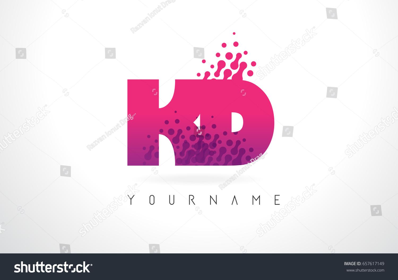 KD K D Letter Logo Pink Stock Vector (Royalty Free) 657617149 ...