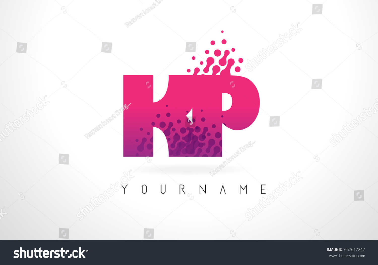 KP K P Letter Logo Pink Stock Vector (Royalty Free) 657617242 ...