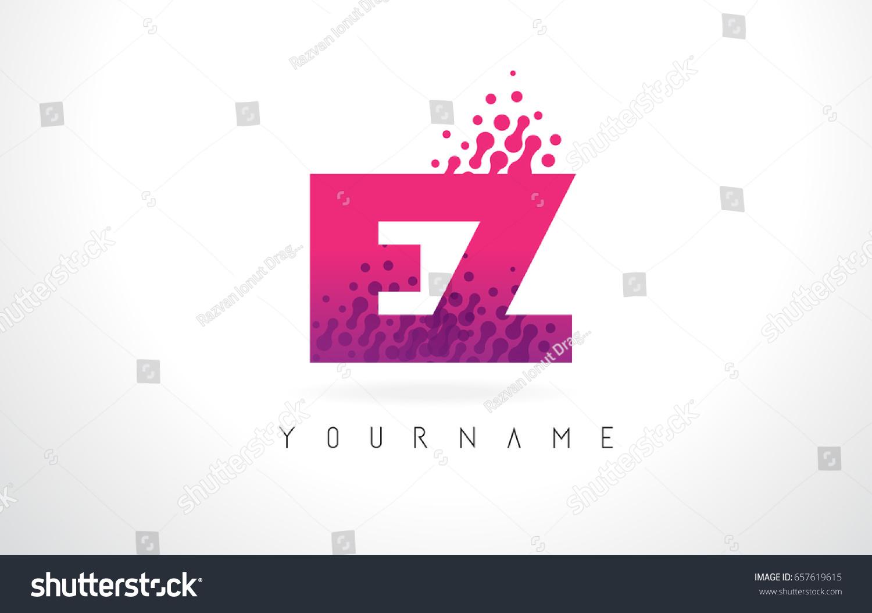 EZ E Z Letter Logo Pink Stock Vector (Royalty Free) 657619615 ...