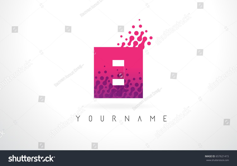 EI E Letter Logo Pink Letters Stock Vector 657621415 - Shutterstock