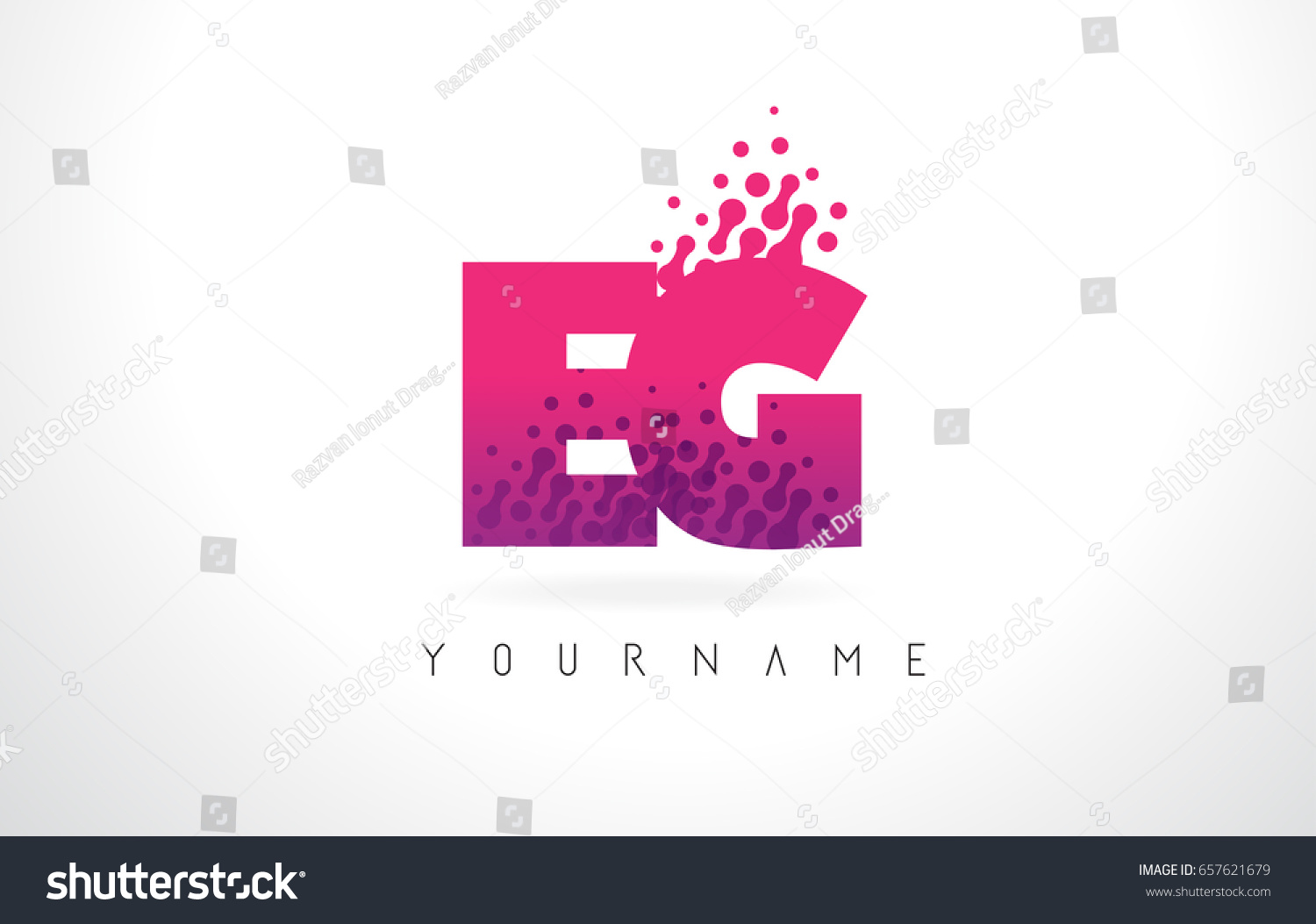 E G Letter Logo Pink Letters Stock Vector (Royalty Free) 657621679 ...