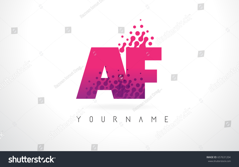 AF F Letter Logo Pink Letters Stock Vector (Royalty Free) 657631204 ...