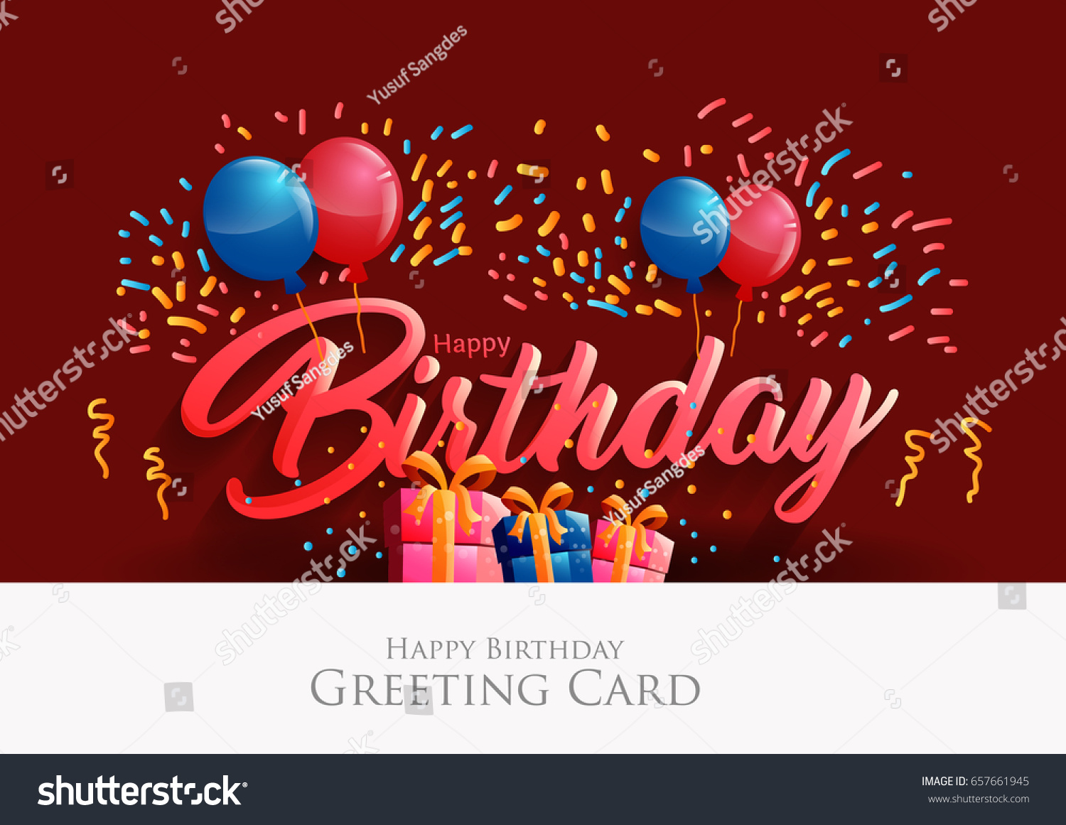 Happy Birthday Typographic Vector Design Greeting Vector – Greeting Cards for Birthday Images