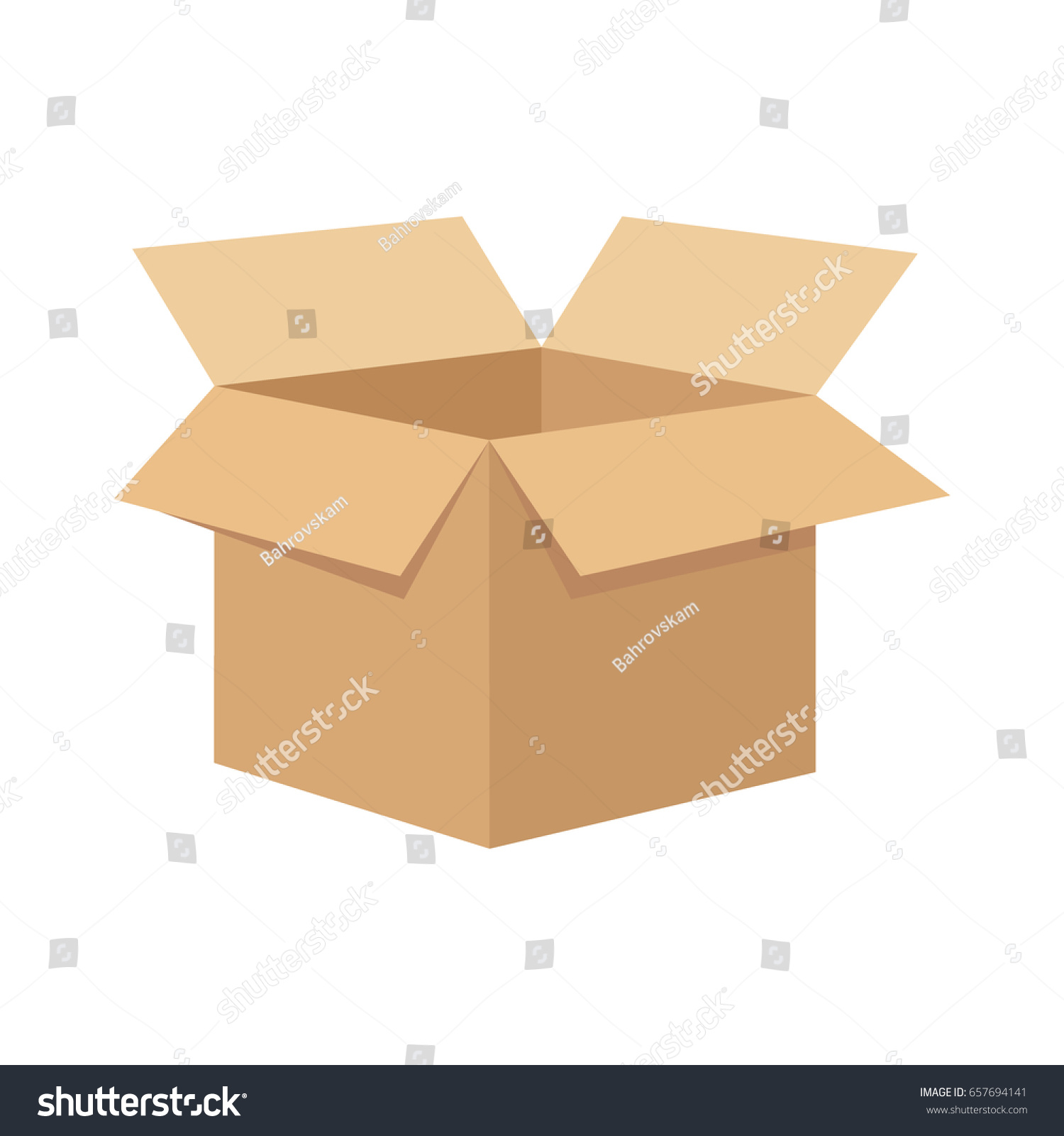 Open flat box. #657694141