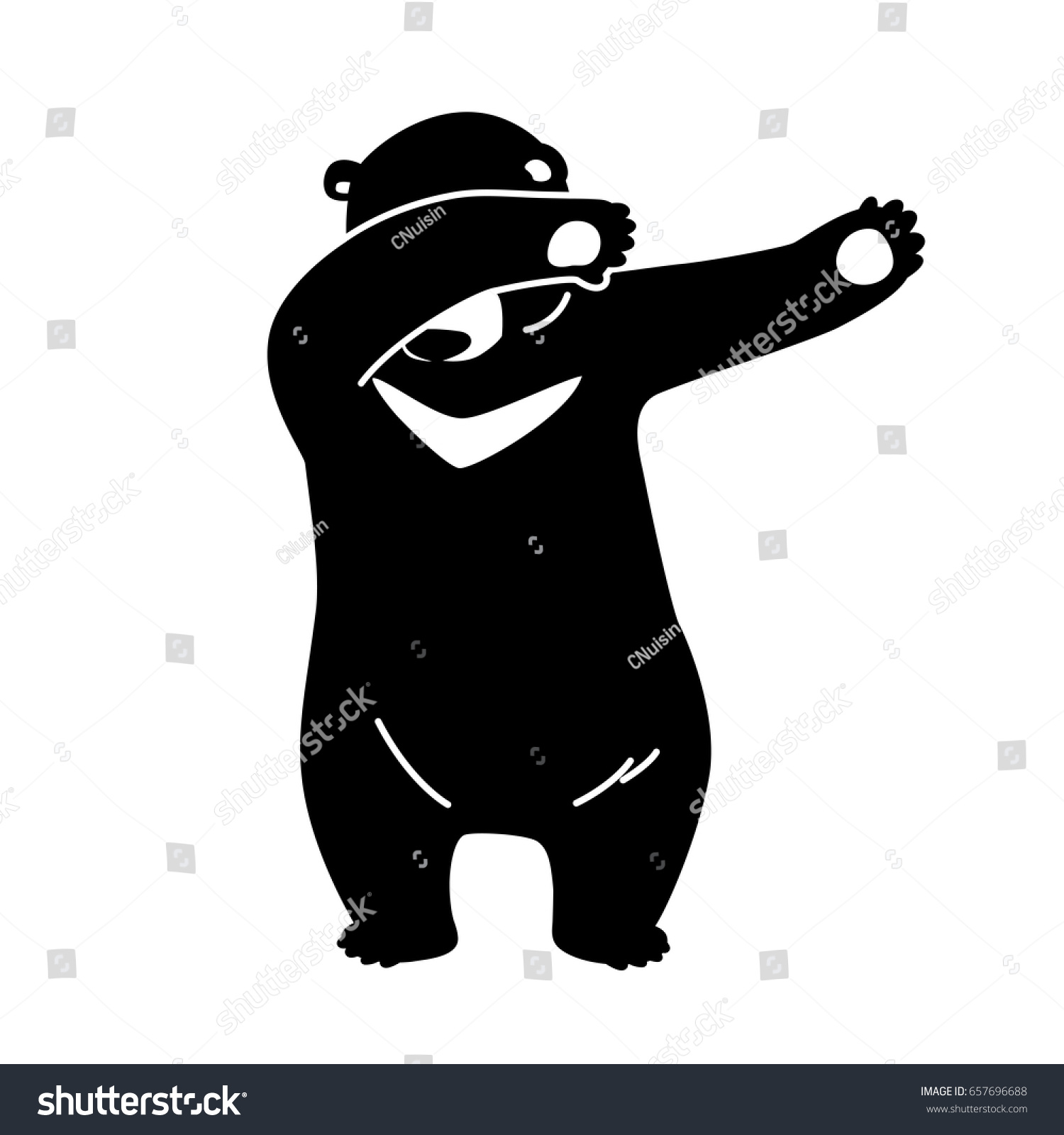 dabb dance. bear polar dab dance vector illustration dabb