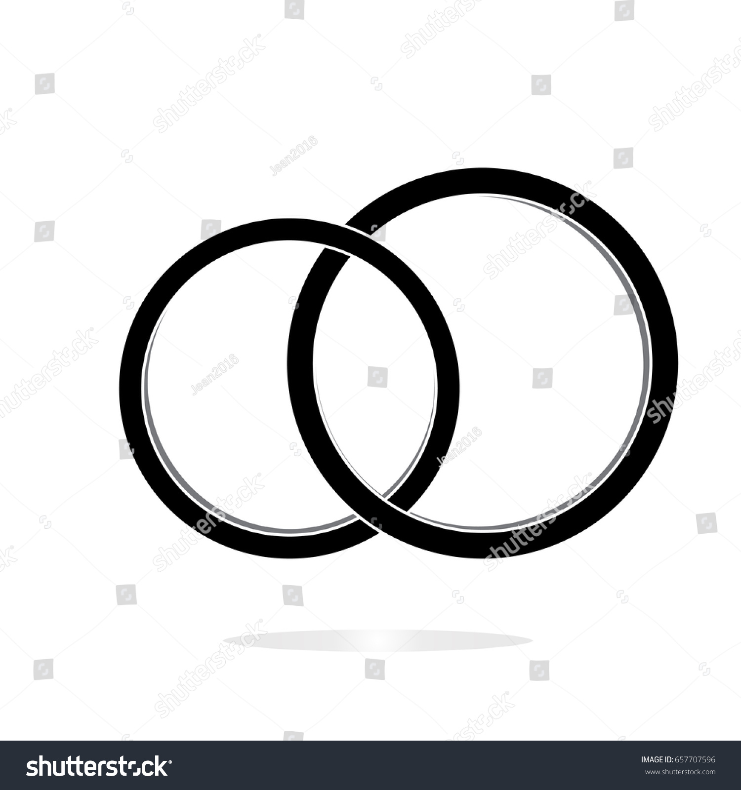 Wedding Icon Marriage Symbol Wedding Rings Stock Vector Royalty