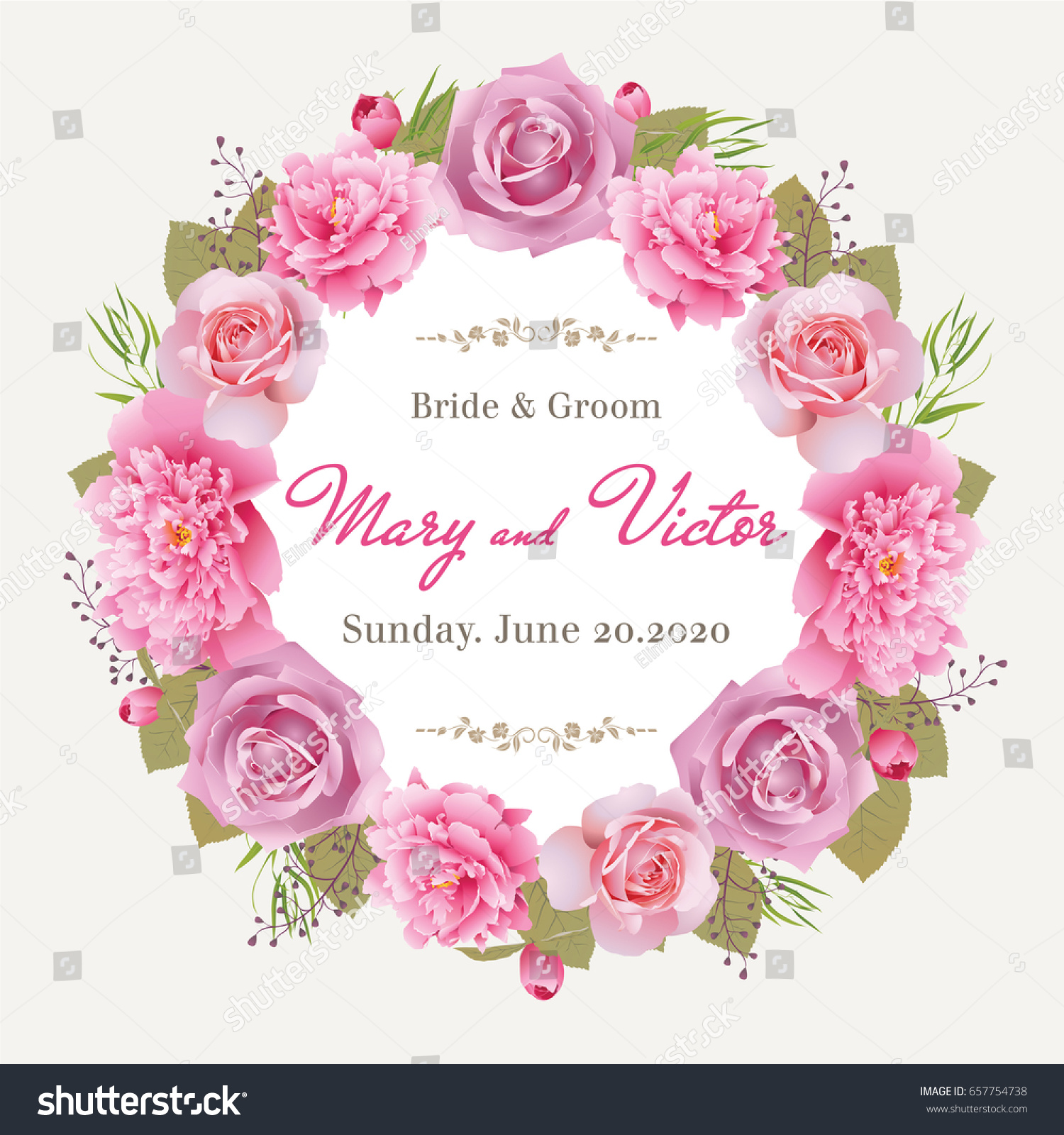 Wedding Invitation Thank You Card Save Stock Vector 657754738 ...