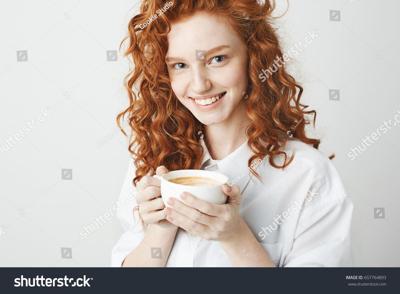Milky white redhead