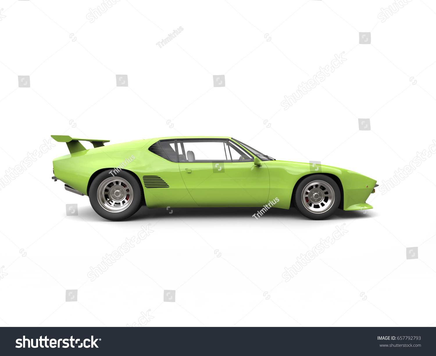 Vector American Muscle Car Side View Ez Canvas