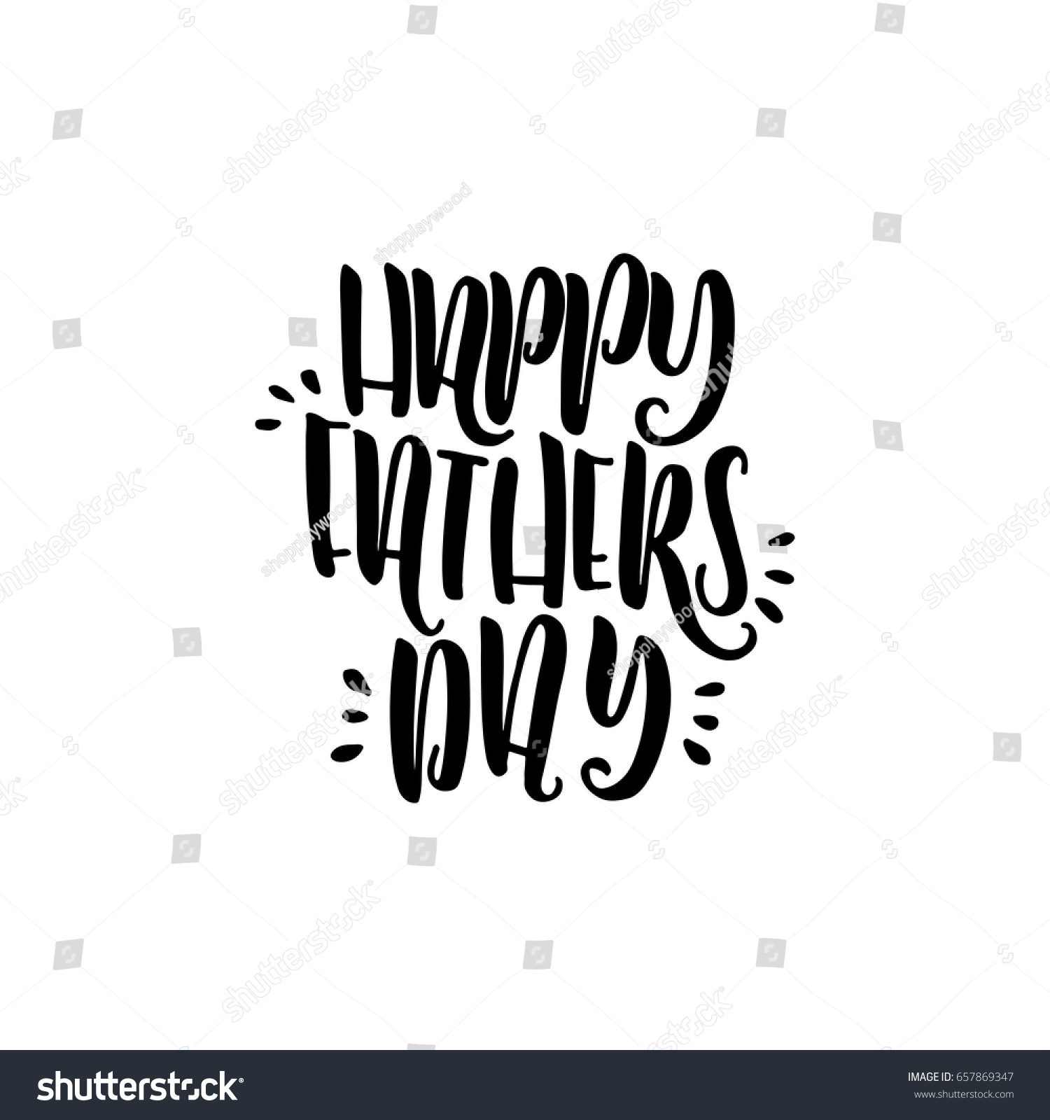 Greeting Phrase Written Feast Father Day Stock Vector 657869347